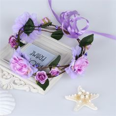 Shades of lavender! Fairy flower crown perfect for fairy, whimsy or princess photoshoots!