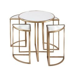 House of Hampton Lewes 5 Piece Nesting Tables