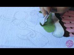 Pintura em tecido Eliane Nascimento: Cobertura do Cupcake - YouTube