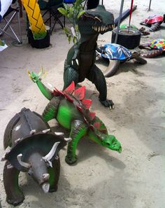 More recycled tire sculptures on sale at the Texas Sandfest 2012. These were so neat!