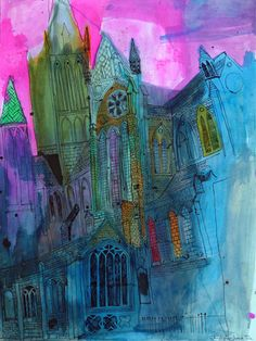 Christopher Tate Art - Cornwall Gallery | Christopher Tate Art | Cornish Artist Project Ideas, Art Projects, Drawing Sketches, Drawings, Year 8, Abstract Paintings, Cathedrals, Pretty Pictures, Worship