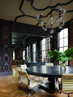 Gothic Office by Jessica Helgerson Interior Design, Portland, via Yellowtrace. love the ceiling