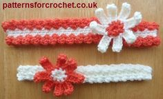 Two sweet headbands free crochet pattern from http://www.patternsforcrochet.co.uk/2-headband-designs-usa.html #freecrochetpatterns #patternsforcrochet
