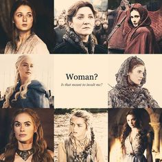 The women of Game of Thrones. All stronger than at least 2 different male characters.