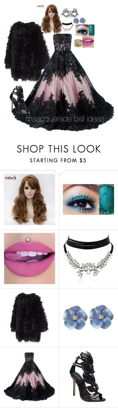 """""""a secret mask ball"""" by bishpleaseimaprincess on Polyvore featuring beauty, Masquerade, WithChic, MACKINTOSH and Sole Society"""