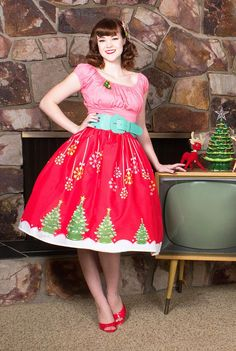 8a5e0bd8381a Kitschy Christmas Novelty Print Circle Skirt Limited Edition - Coming soon!  Rockabilly Fashion, Rockabilly