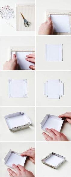 THIS SIMPLE DIY GIFT BOX. — Gathering Beauty Full box tutorial, looks simple enough and would cost less than the boxes I purchase for jewelry.Full box tutorial, looks simple enough and would cost less than the boxes I purchase for jewelry. Diy Gift Box, Easy Diy Gifts, Diy Box, Simple Gifts, Simple Diy, Gift Boxes, Jewerly Box Diy, Diy Pochette, Creation Deco
