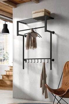 Industrial Design Furniture, Furniture Design, Industrial Coat Rack, Coat Storage, Home Office Accessories, Small Room Bedroom, Home And Living, Sweet Home, New Homes