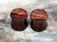 11mm Hawaiian Koa wood ear plugs Beautiful organic 7/16ths