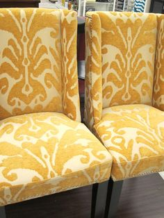 cool wonderful nice adorable fantastic nice cynthia rowley furniture with yellow white accent with flower decoration and has wooden legs Teal Office, Office Chic, Rustic Cottage, Home Office Space, Down South, Dining Room Chairs, House Rooms, Home Remodeling, Home Goods