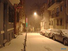 Kadiköy street in the snow