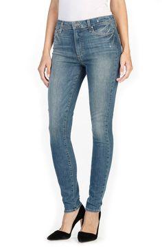PAIGE Denim Hoxton High Rise Ultra Skinny Jeans (Big Sur). #paige #cloth #