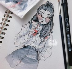 We all know I'm not going to be able to keep up with #inktober but here's a lil vampire lady I did today~