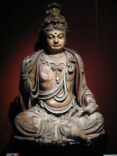 Statue assise de Bodhisattva, dynastie Jin (1115–1234).