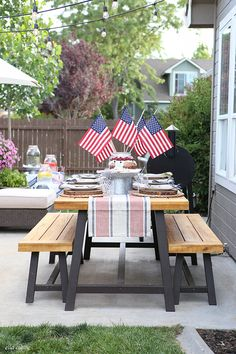 Fourth of July Entertaining via Ella Claire Inspired for Cost Plus World Market www.worldmarket.com #WorldMarket 4th of July Party Ideas