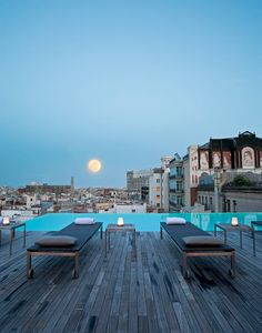 The infinity pool at Grand Hotel Central, Barcelona, Spain- ~LadyLuxury~