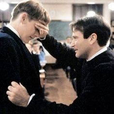 Robin Williams and Ethan Hawke in Dead Poet's Society
