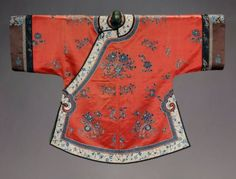 Han Chinese Qing dynasty woman's coat circa 1860–7. Museum of the Fine Arts in Boston. Accession Number: T.228-1994