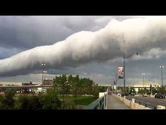 Roll cloud over Calgary, Canada -June 18th 2013.