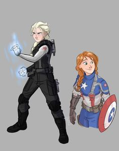 Frozen and Captain America