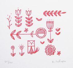 Scandinavian Folk Designs | Scandinavian Folk Print by June Craft | Flickr - Photo Sharing!