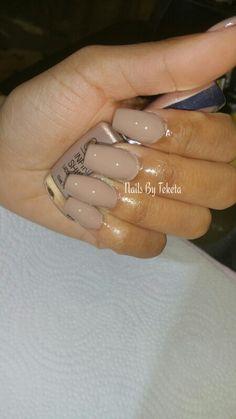 Nails, opi nail polish, natural overlay, acrylic nails