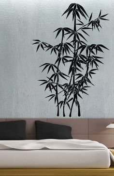 Asian Bamboo Wall Decals Tree Wall Decals Bedroom Wall Decors - Vinyl wall decals bamboo