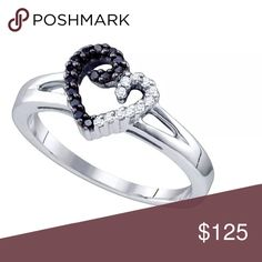 Silver Black Colored Diamond ❤️ Love Ring 1/7 Ctw Sterling Silver Black Colored White Diamond Heart Love Valentines Fashion Ring 1/7 Cttw Size 5  Product Specification Metal Purity	Sterling Silver Diamond Carat 1/6 Ct.t.w. Diamond Clarity / Color I2-I3 / H-I Width 9 mm ( .35 inches ) Width of shank 1.5 mm Ring Size 5 Gram Weight 1.71 grams (approx.) Style Hearts & Love Item Number Larimaro -7451617 Jewelry Rings