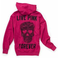 LOVE PINK skull hoodie(: It's just like the black one I posted. ♥♥