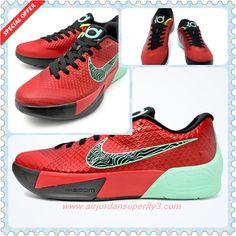 653657-603 Action Red/Medium Mint-Volt-Black Nike KD Trey 5 II Mens For Sale