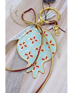 Γούρι Enamel Jade Pomegranate Pomegranate, Enamel, Personalized Items, Christmas Ornaments, Holiday Decor, Jade, Home Decor, Granada, Vitreous Enamel