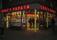 I want to try a Gray's Papaya hot dog simply because of the movie Fools Rush In.