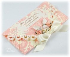 Quilled Roses, Pink Gift Envelope & Greeting in one - by: Taras Studio - Envelope 2012 15