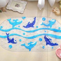 Cartoon Dolphin PVC Bath Mat Anti-Slip Bath Mats Suitable For Car Bathroom Toilet Foyer Floor Carpet Review Cartoon Dolphin, Foyer Flooring, Bathroom Toilets, Dolphins, Kids Rugs, Bath Mats, Collections, Check