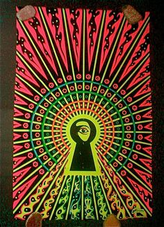 Original 1970 Watching You  Psychedelic Poster  by studiostebbylee, $250.00