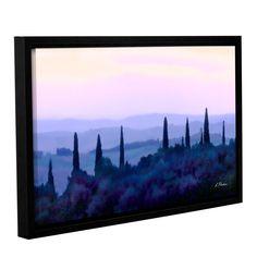 ArtWall Linda Parker 'Tuscan Morn ' Gallery-wrapped Floater-framed