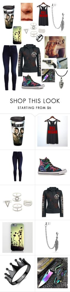 """""""#the walking dead"""" by crazykatey123 ❤ liked on Polyvore featuring Tervis, Converse, Charlotte Russe, Bling Jewelry and Carolina Glamour Collection"""