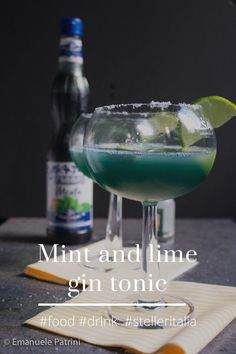 Mint & lime gin tonic
