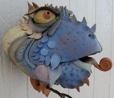 Whimsical Birdhouse-  IMG_1143.jpg 800×688 pixels Douglas Frey pottery