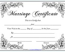 fake marriage certificate for fun