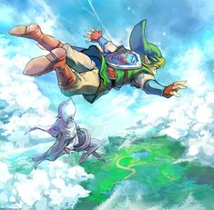 Tags: Fanart, Nintendo, Zelda no Densetsu, deviantART, Link, Skyward Sword, Fanart From DeviantART, Fi, Muse (Rainforest), Sky Link