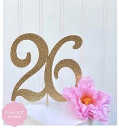 Numbrer 20 for 20th Birthday or Anniversary Cake Topper Party Decoration Supplies 4.5 Inches Tall Charming Collections Gold