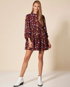 #choosepink Dresses With Sleeves, Long Sleeve, Floral, Casual, Pink, Woman, Fashion, Moda, Sleeve Dresses