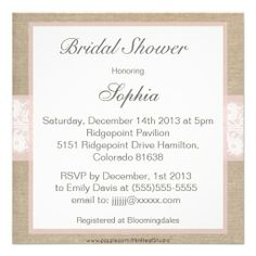 >>>best recommended          Burlap & Lace Pink Customizable Bridal Shower Invitations           Burlap & Lace Pink Customizable Bridal Shower Invitations We provide you all shopping site and all informations in our go to store link. You will see low prices onDiscount Deals          ...Cleck Hot Deals >>> http://www.zazzle.com/burlap_lace_pink_customizable_bridal_shower_invitation-161444868639471450?rf=238627982471231924&zbar=1&tc=terrest