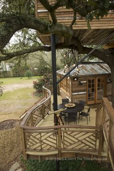 The multiple layers of the treehouse that Raising Cane founder and CEO Todd Graves and his wife, Gwen, had built for them in Baton Rouge. The house was photographed on Thursday, March 5, 2015.(Photo by Chris Granger, Nola.com | The Times-Picayune)