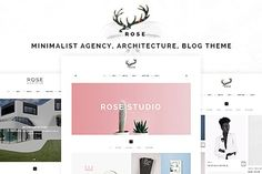 Rose - Minimalist Portfolio Template by wiloke on @Graphicsauthor