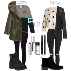 First day of school Part 2 Cold days by jordangirl2313 on Polyvore featuring…