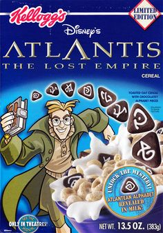 Atlantis The Lost Empire Cereal Box (Front) - Kellogg's 2001