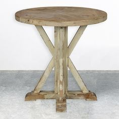 Small Round Side Table, Round Patio Table, Deck Table, Round Accent Table, Wood Tables, Shabby Chic Farmhouse, Farmhouse Table, Farmhouse Decor, Antique Farmhouse