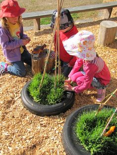 I like this idea for a little extra garden space for the kids to plant in their play area